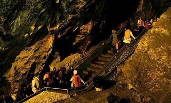 غار علیصدر - نورپردازی