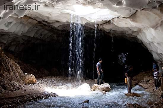 غار چما ورودی از داخل