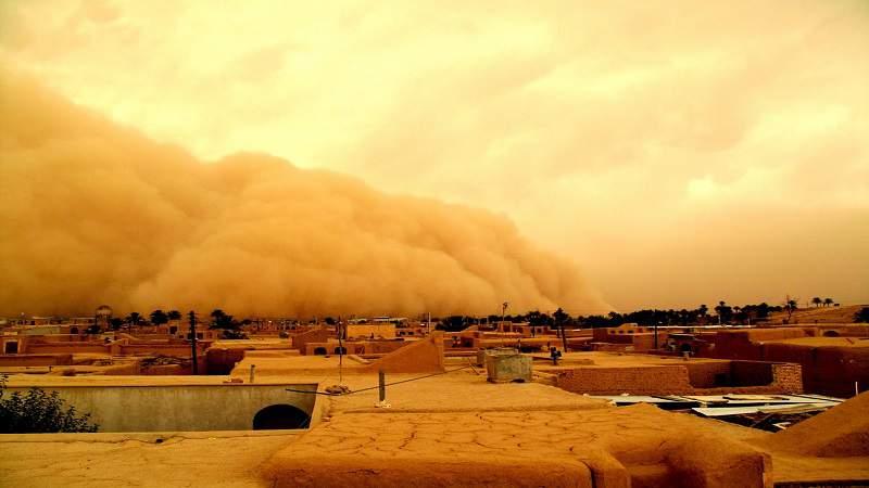 خور و بیابانک طوفان شن